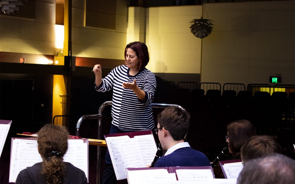 Alisa conducts Queensland Wind and Brass